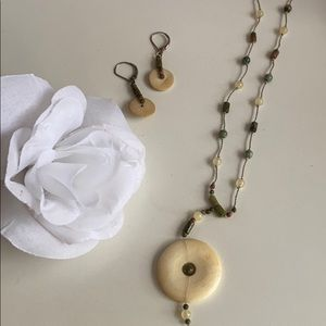 Earthy Vintage Necklace & Earring Set